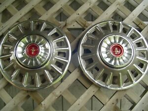 Two 1968 68 Ford Mustang Hubcaps Wheelcovers Center Caps Vintage Classic
