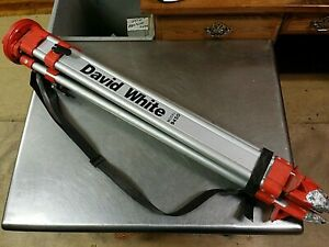 David White Model 9450 Aluminum Adjustable Extension Surveyor Laser Level Tripod