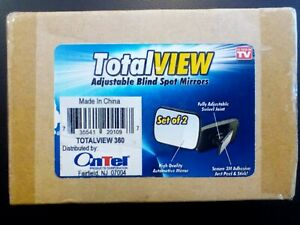 Totalview 360 Adjustable Blind Spot Mirror Wide Angle Mirror Set Of 2 New