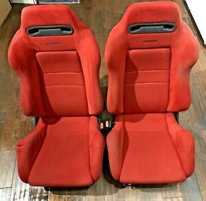 Oem Recaro Sr3 Seats Red Jdm Honda Integra Dc2 Civic Ek9 Type R Acura W Rails