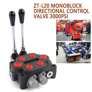 2 Spool Hydraulic Control Valve 25gpm Double Acting Tractors Loaders 3000psi New