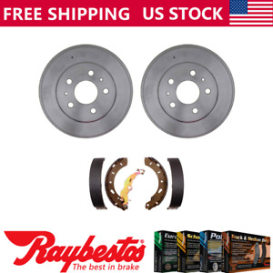 Rear Kit Brake Drums Brake Shoes For 2012 2016 Ford Focus Raybestos