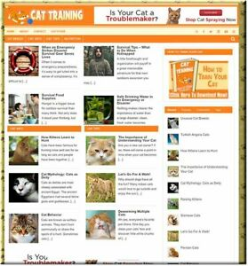 Cat Training Ready Business Website For Sale Make Money Online Affiliate