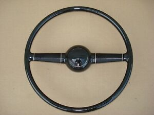 1940 Ford Deluxe Steering Wheel Smooth Horn Button 15 Complete Street Rat Rod