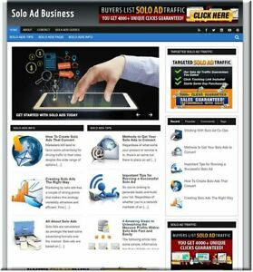 Solo Ads Traffic Networks Business Website For Sale Make Money Online Affiliate