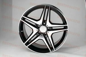 18x8 0 18x8 5 Mercedes Benz Amg Style Black Wheels Rims Fits C Class Staggered