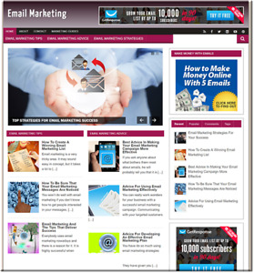 Email Marketing Traffic Business Website For Sale Make Money Online Affiliate