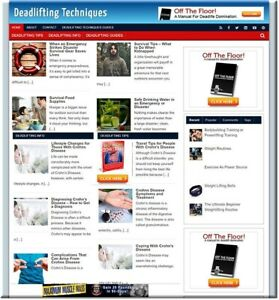 Deadlifting Adsense Profitable Website Unlimited Products Affiliate Store