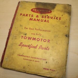 Towmotor Lt 46 50 53 56 62 72 Series Forklift Parts Manual Book Catalog Spare