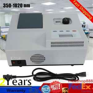 350 1020nm Visible Spectrophotometer Digital Laboratory Equipment Spectronic New