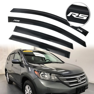 Fits 12 16 Honda Crv Rain Window Visor Wind Vent Shade Guard 4pcs Set W Rs