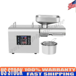 Oil Press Machine Automatic Extractor Expeller Filter Home Commercial 5 7 5kg hr