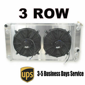 3 Row Aluminum Radiator For 1986 2005 Chevy S10 Ls Ss Zr2 Swap 26 3 Wide Core