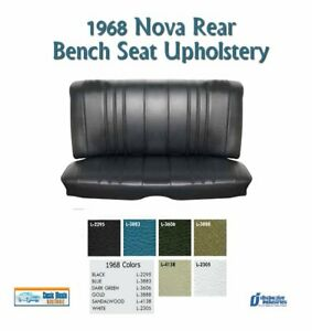 1968 Chevy Ii Nova Rear Bench Seat Upholstery In Your Choice Of Factory Color