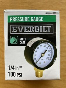 100 Psi Pressure Gauge 1 4 In Lower Connection Steel Well Pump Water Measure New