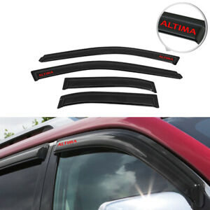 Fits 98 01 Nissan Altima Sedan Rain Window Visor Shade Vent Guard W Red Altima