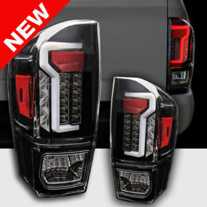 Custom Taillights For 2016 2019 Toyota Tacoma 3rd Gen Led Tail Lights Black