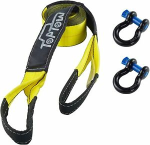 Toptow Recovery Tow Strap Kit 3 X 20 Strap 2 Packs Of 3 4 Bow Shackles