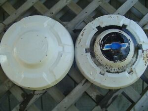 2 Vintage Chevrolet Chevy Blazer Pickup Truck Hubcaps Wheel Covers 16 In 3 4