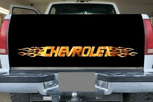 Chevy Flames Sticker Window Decal Bed Sticker Chevrolet Tahoe Silverado Sticker