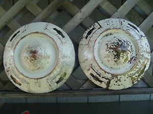 2 Vintage Chevrolet Chevy Apache Pickup Truck Hubcaps Wheel Covers 16 In 3 4