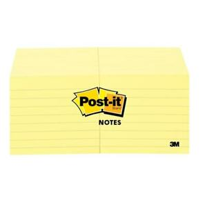 Post it Notes Lined 3 x3 100 Sheets pd 12 pk Yellow