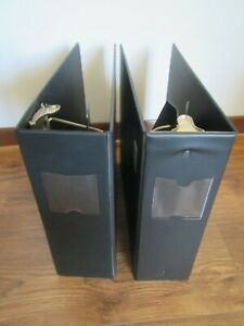 Lot Of Two 3 ring Binders One 4 Slant d Ring One 3 5 Round Ring Black