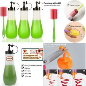 Condiment Squeeze Bottle Sauce Squeeze Squirt Bottle For Kitchen Plastic Syrup S