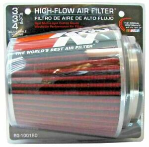 K n Rg1001 rd 3 To 4 Round Universal Air Intake Cone Filter Truck car suv