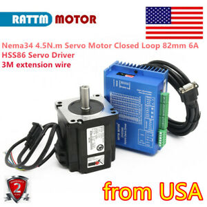 from Us nema34 4 5nm 6a Closed Loop Servo Motor W Hss86 Hybrid Driver 3m Cable