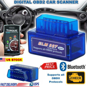 Obd2 Elm327 V2 1 Bluetooth Car Scanner Android Torque Auto Scan Tool Obd ii Usa