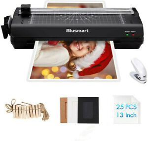 A3 Laminator Hot Cold With 25 Laminating Pouches paper Cutter corner Rounder