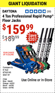 Harbor Freight Coup On For 4 Ton Rapid Pump Professional Floor Jack