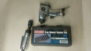 Craftsman Usa 9 pc Impact Socket Set 3 8 Dr Deep 19370 Sae With Wrenches