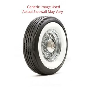 750r16 Deluxe Auburn Tire With 4 White Wall Modified Sidewall 1 Tire