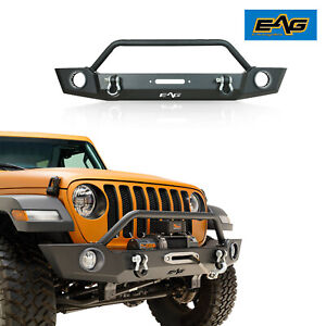 Eag Heavy Duty Front Bumper With Fog Light Hole Fit For 18 21 Jeep Jl Wrangler