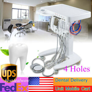 4h Portable Dental Delivery Unit Mobile Cart Air Scaler Handpiece No Compressor