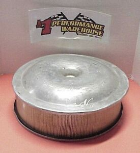 Aluminum 14 X 4 Air Cleaner With Sure Seal Ratrod Streetrod Figure 8 Derby