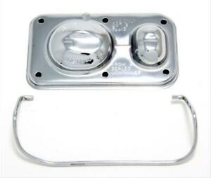 Trans dapt 9101 Master Cylinder Cover Steel Chrome Single Bail 5 625 X 3