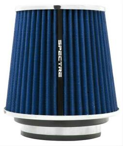 Spectre Air Filter Conical 3 3 5 4 Inlet Oiled Cotton Fiber blue Chrome Ends