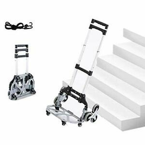 Aluminum Folding Hand Truck Dolly Portable Multi purpose Trolley climb Stairs H