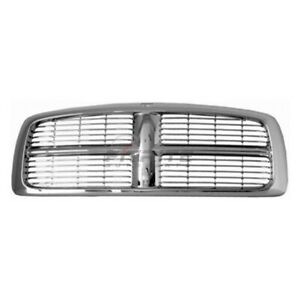 New Grille Chrome Frame With Painted Bars Fits Dodge Ram 2500 2002 05 Ch1200261