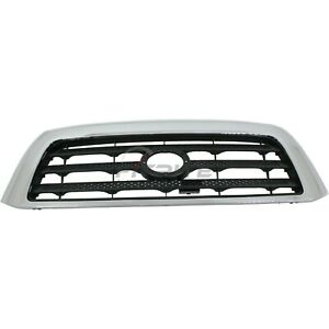 New Grille Black With Chrome Frame Fits Toyota Tundra 2007 2009 To1200301
