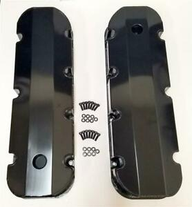 Show Display Covers Big Block Chevy Bbc 454 Fabricated Black Valve Covers Tall