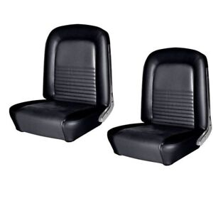 1967 Mustang Fastback Front Rear Seat Upholstery Black Made By Tmi