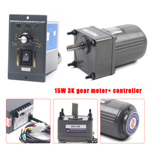 Ac Gear Motor Electric Motor Variable Speed Controller 1 3 450rpm 110v 15w Profi