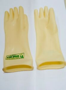 6 Pair Of Nylon Working Gloves Safety Gloves 12 Inches