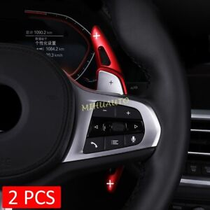 Steering Wheel Paddle Shifter Extension For Bmw G20 G30 G11 G01 G02 G05 G07 Red