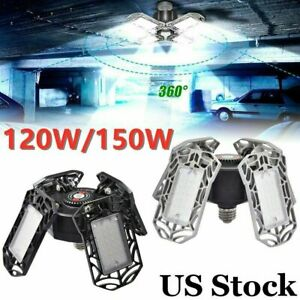 120 150w Deformable Led Garage Light 15000lm Super Bright Ceiling Lights Lamp