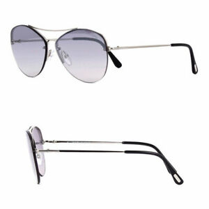 Tom Ford Margret 02 Tf566 18c Silver Aviator Unisex Sunglasses Made In Italy